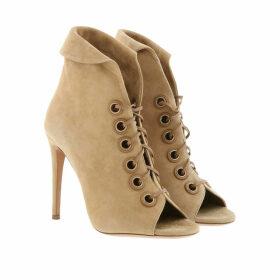 Aquazzura Sandals - Eva Booties Leather Beige - beige - Sandals for ladies