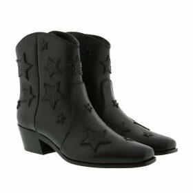 Miu Miu Boots & Booties - Star Booties Leather Black - black - Boots & Booties for ladies