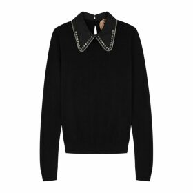 No.21 Embellished Wool And Silk-blend Jumper