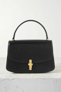 Burberry - Tabitha Leather-trimmed Logo-detailed Canvas Espadrilles - Black