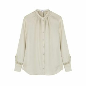 Equipment Causette Champagne Jacquard Silk Blouse