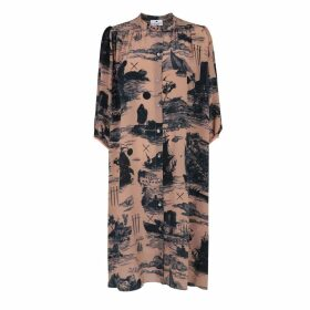 Klements - Scout Dress Doomed Voyage Print Silk