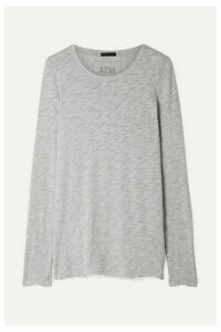 ATM Anthony Thomas Melillo - Slub Pima Cotton-blend Jersey Top - Gray