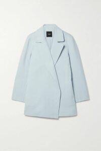 Rebecca de Ravenel - Long Field Belted Printed Silk Crepe De Chine Maxi Dress - Blue