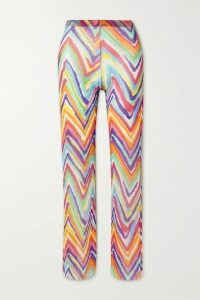 Miguelina - Jill Cropped Tie-front Printed Linen Top - Pink