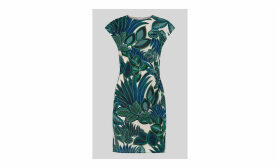 Palm Print Silk Bodycon