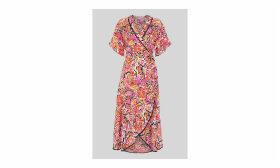 Art Floral Wrap Dress