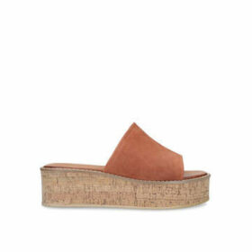 Kurt Geiger London Maci - Rust Suede Flatform Sandals