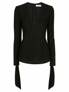 Carolina Herrera tie-cuff blouse - Black