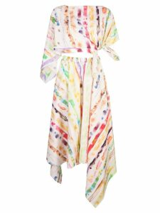 Rosie Assoulin tie-dye print two-piece dress - White