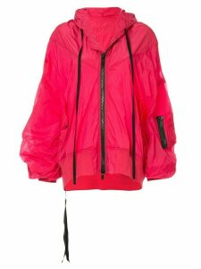Unravel Project hooded rain jacket - PINK
