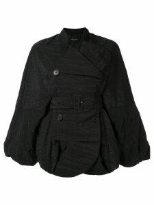 Simone Rocha oversized double breasted jacket - Black