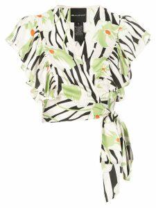 Jill Jill Stuart cropped printed blouse - White