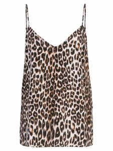 Equipment leopard print camisole top - Brown