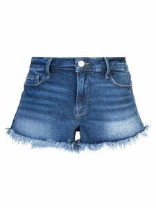 FRAME frayed edge micro denim shorts - Blue