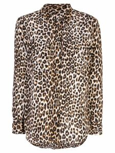 Equipment leopard print fitted blouse - Black