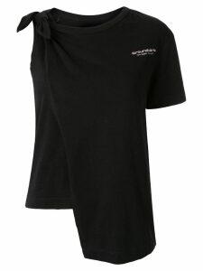 Ground Zero knotted T-shirt - Black