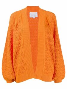 I Love Mr Mittens balloon sleeves cardigan - ORANGE