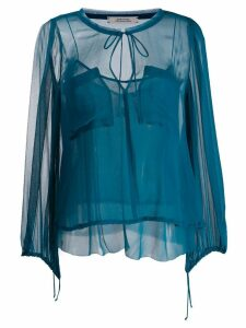 Dorothee Schumacher patch pocket blouse - Blue