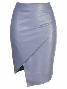 Michelle Mason wrap skirt - Blue