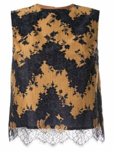 Loveless sleeveless lace top - Yellow