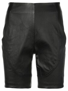 AREA high waisted shorts - Black