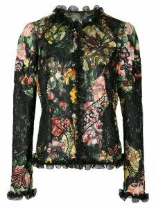 Dolce & Gabbana floral print blouse - Black