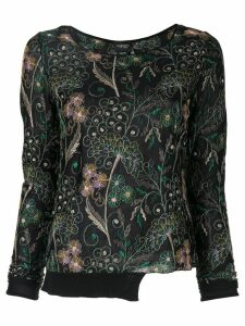 Giambattista Valli floral embroidered sweatshirt - Black