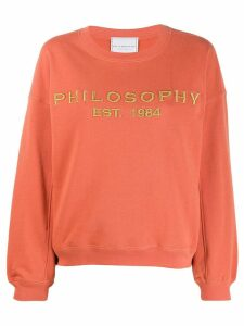 Philosophy Di Lorenzo Serafini logo sweatshirt - Orange