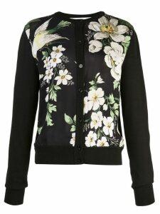 Carolina Herrera floral print cardigan - Black