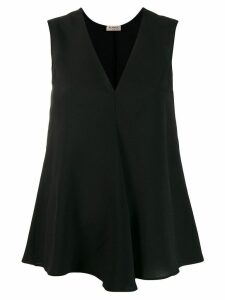Blanca Vita v-neck tank top - Black