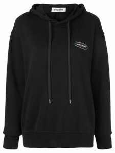 Ground Zero tie back hoodie - Black