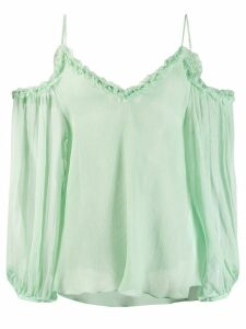 Stella McCartney floaty cold-shoulder blouse - Green
