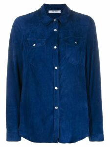 Gente Roma chest pocket shirt - Blue