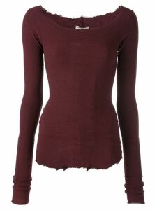 Marc Le Bihan scoop neck sweatshirt - Red