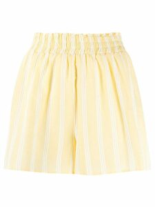 Roberto Collina high-waisted striped shorts - Yellow