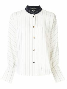 Comme Moi stand-up collar shirt - White