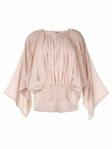 Ann Demeulemeester smock detailed blouse - Pink