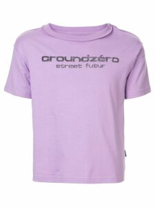 Ground Zero logo print T-shirt - PURPLE