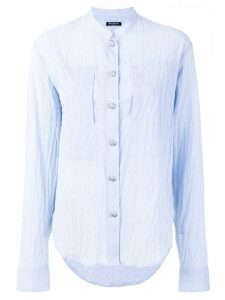 Balmain embossed button shirt - Blue