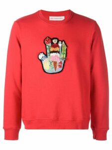 Walter Van Beirendonck Badges I sweatshirt - Red