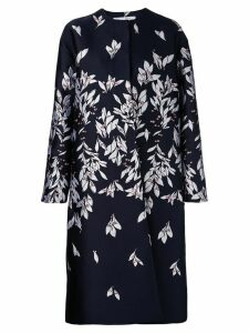 Oscar de la Renta straight-cut dress with petal print - Blue