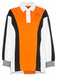 Converse X Koché oversized polo shirt - 102 Orange Blue White