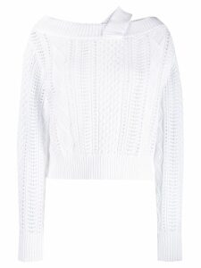 RtA cable knit sweater - White