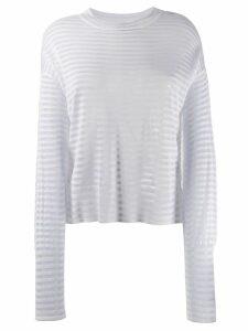 RtA striped sweater - White