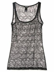 Dsquared2 lace vest top - Black