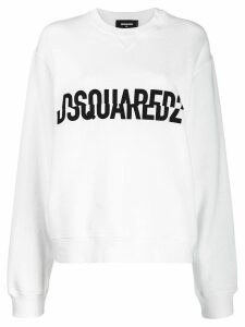 Dsquared2 crossed logo print sweater - White