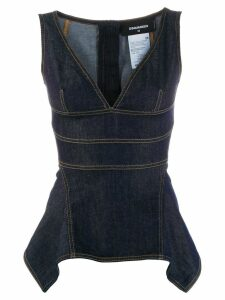 Dsquared2 denim peplum top - Blue