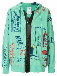 Maison Mihara Yasuhiro Caligraphy print hoodie - Green