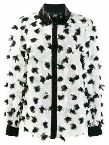 Cavalli Class appliqué floral blouse - White